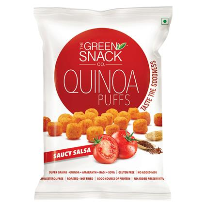 Quinoa Puffs Saucy Salsa - The Green Snack Co