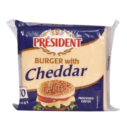 Burger Slices  -  Cheddar Cheese - President