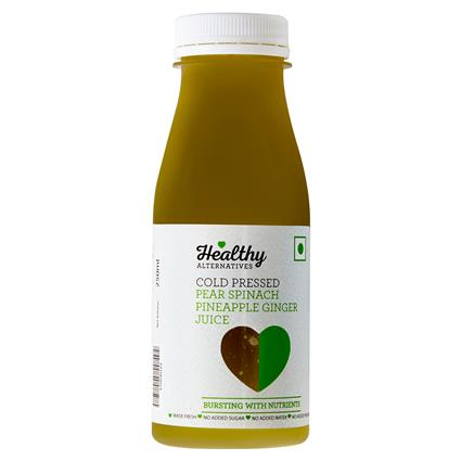 Spinach Pear Ginger Cold Pressed  Juice - Healthy Alternatives