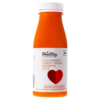 Carrot Ginger Cold Pressed  Juice - Healthy Alternatives
