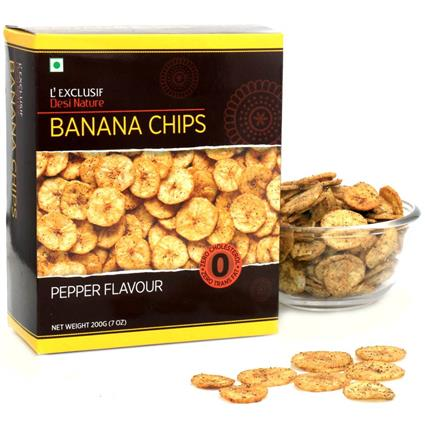Banana Chips  -  Pepper Flavour - L'exclusif