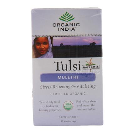 Tulsi Mulethi Tea  -  18 TB - Organic India