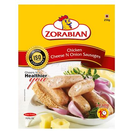 Chicken Cheese N Onion Sausages - Zorabian