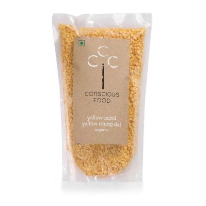 CONSCIOUS FOOD YELLOW MUNG DAL 500G