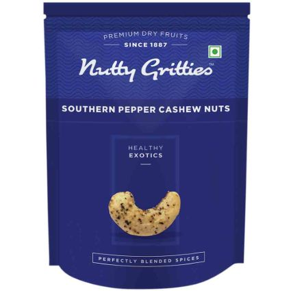 NUTTY GRITTIES PEPPER CASHEWNUTS 188G