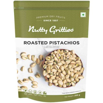 NUTTY GRITTIES SALTED PISTACHIOS 200GM