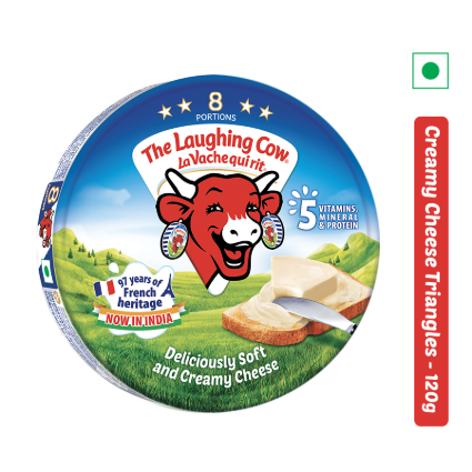 THE LAUGHING COW CHEESE ROUND BOX 120G