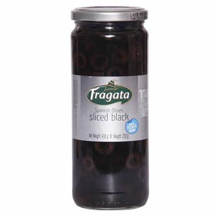Sliced Black Spanish Olives Oil - Fragata