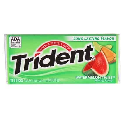 Watermelon Twist Chewing Gum  -  18 Stick - Trident