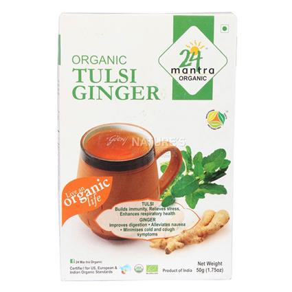 Tulsi Ginger Tea - 24 Mantra Organic