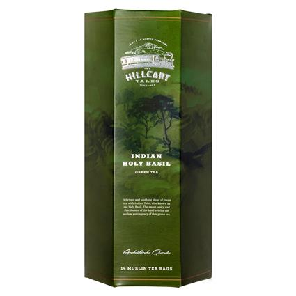 Indian Holy Basil Green Tea 14 TB- The Hillcart Tales