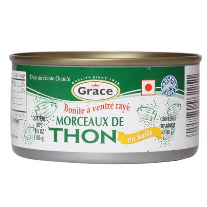 GRACE SKIPJACK TUNA CHUNKS IN OIL 185G