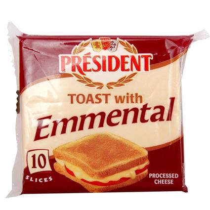 Toast Emmental Cheese Slices - President