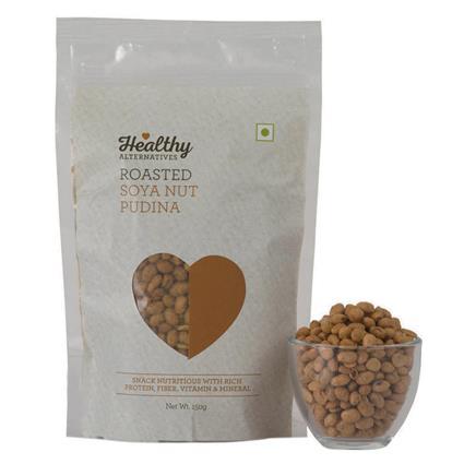 Soya Nut  -  Roasted Pudina Snack - Healthy Alternatives