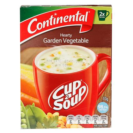 Cup -  A - Soup Hearty Garden Vegetable 98.5% Fat Free - Continental