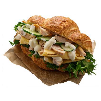 Tandoori Chicken Tikka Croissant Sandwich - Emporio Patisserie
