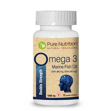 PURE NUTRITION OMEGA 3 DS CAPSULES 75N