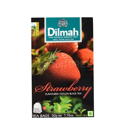 Strawberry Flavoured Ceylon Black Tea - 25 Tb - Dilmah