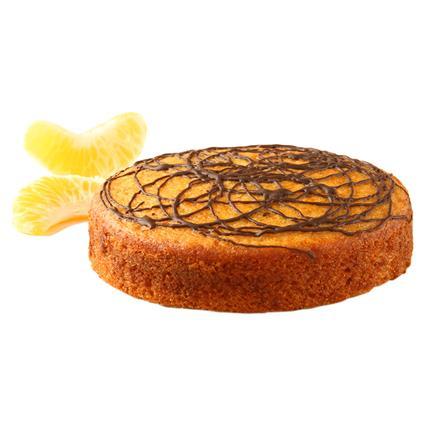 Fresh Orange Cake W/ Chocolate Drizzle (Eggless) - The Baker Dozen