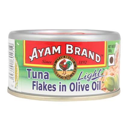 AYAM TUNA LIGHT FLAKES OLIVE OIL 185G