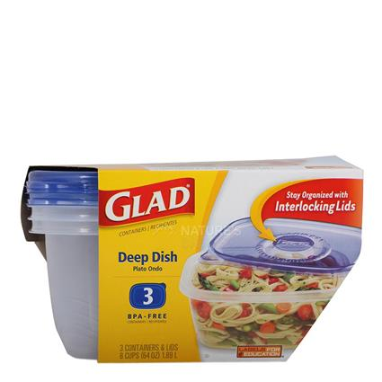 Deep Dish  -  3 Containers - Glad