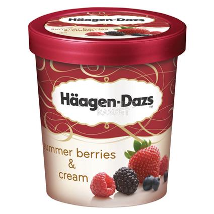 Summer Berries & Cream Ice Cream - Haagen - Dazs