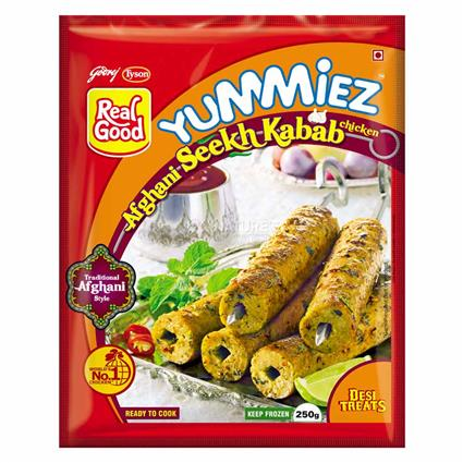 Afghani Chicken Seekh Kabab - Yummiez