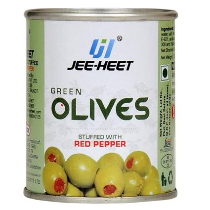 Green Olives Stuffed With Red Pepper - Jee-Heet