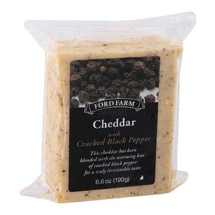 Cheddar Cheese W/ Cracked Black Pepper - Ford Farm