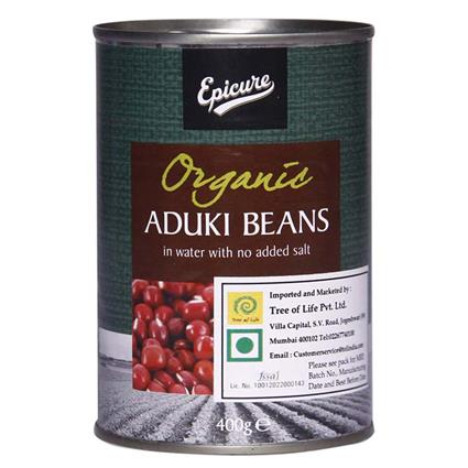 Organic Aduki Beans In Water  -  No Added Salt - Epicure