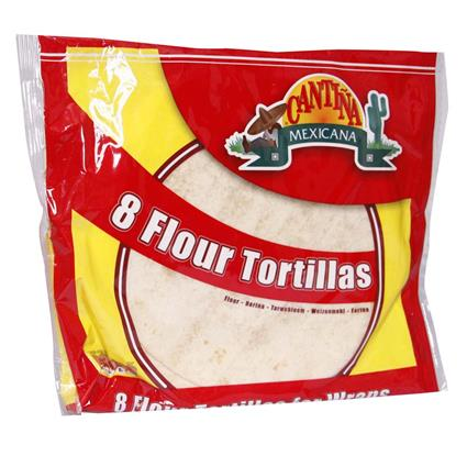 Mexicana Tortilijos CANTINA 8 Flour Tortillas - Cantina