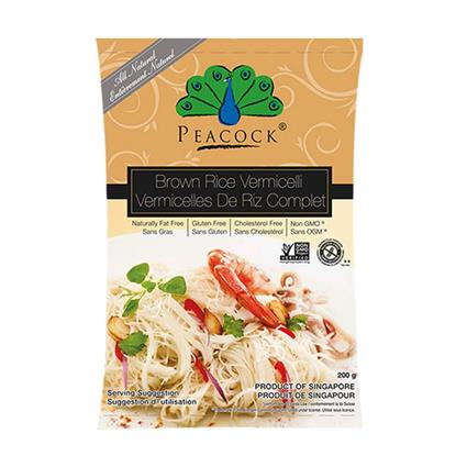 PEACOCK BROWN RICE VERMICELLI 200G