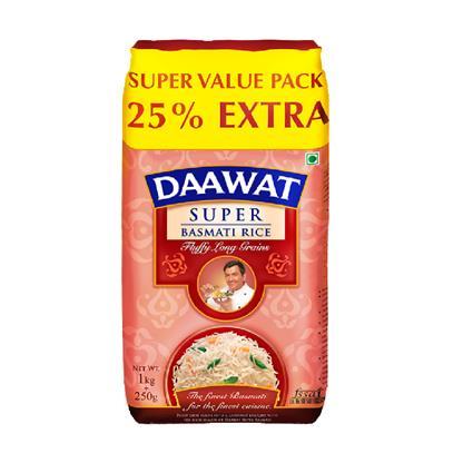 DAAWAT SUPER BASMATI RICE 1.25Kg