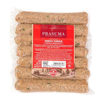 Chicken Seekh Kebab 500Gms - PRASUMA