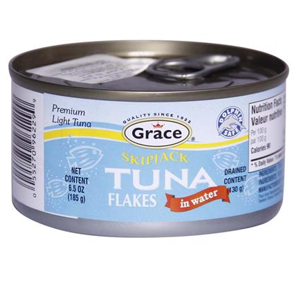 GRACE SKIPJACK TUNA FLAKES IN WATER 185G