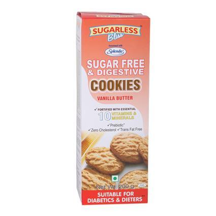 Sugar Free & Digestive Vanilla Cookies - Sugarless Bliss