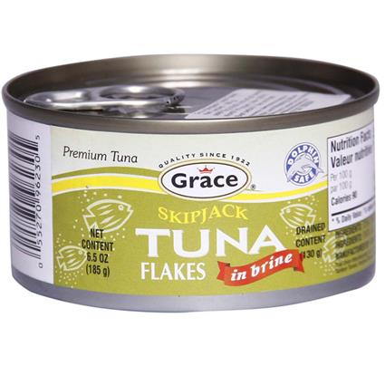GRACE SKIPJACK TUNA FLAKES IN BRINE 185G
