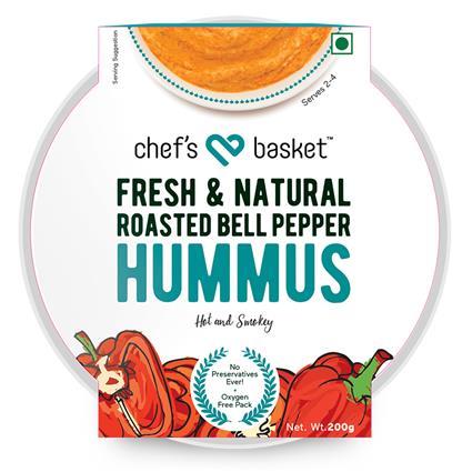 Roasted Bell Pepper Hummus - Chefs Basket
