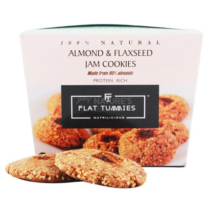 Almond And Flaxseed Jam Cookies - Flat Tummies