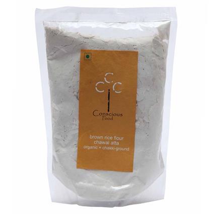 Brown Rice Organic Flour  -  Chakki Ground - Conscious Food