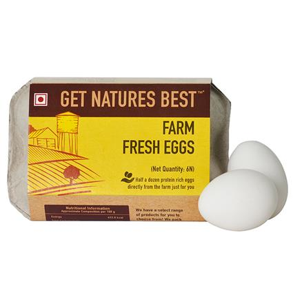 Farm Fresh Eggs Pack Of 6 - Get Natures Best