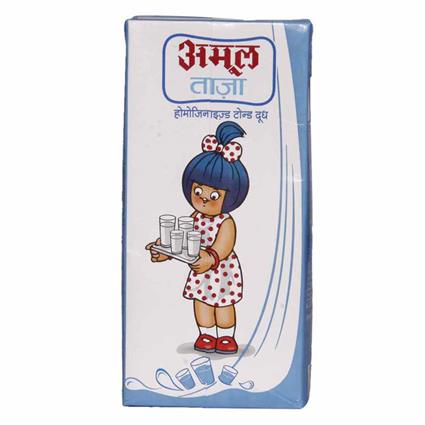 Taaza  -  Homogenised Toned Milk - Amul