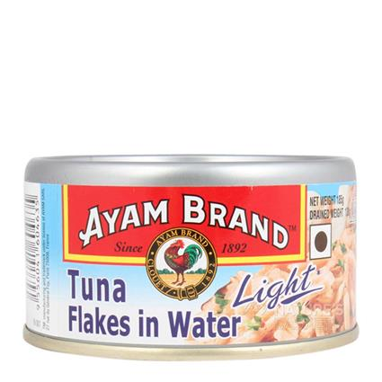 AYAM TUNA LIGHT FLAKES IN WATER 185G