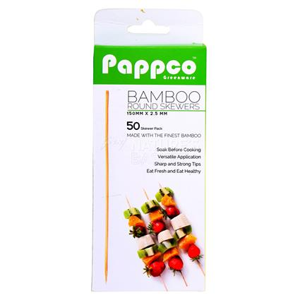 Bamboo Round Skewers - Pappco