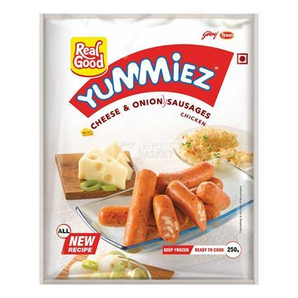 Cheese & Onion Chicken Sausages - Yummiez