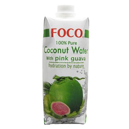 Pure Coconut Water W/ Pink Guava - Foco