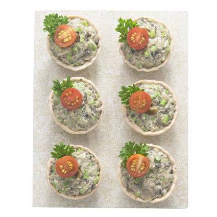 Veg Tarts W/ Jalepeno, Asparagus & Shitakake Mushrooms - Natures Kitchen