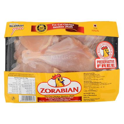 Chicken Half Pre Cut Without Skin - Zorabian