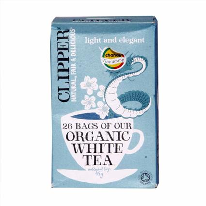 Organic White Tea (Unbleached Bags) - Clipper