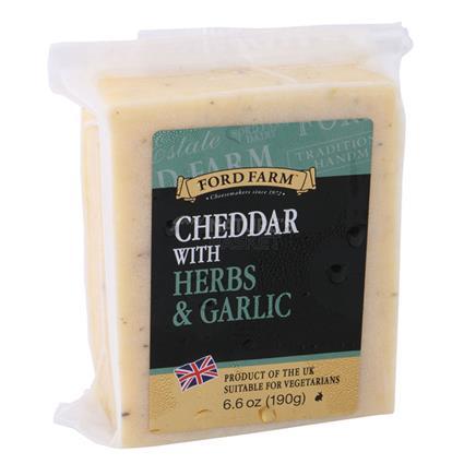Cheddar Cheese W/ Herbs & Garlic - Ford Farm